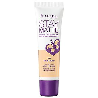 Rimmel Stay Matte Foundation 103 True Elfenbein 30ml