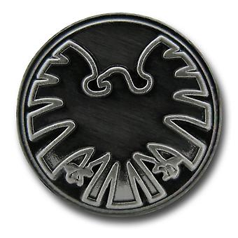 S.H.I.E.L.D. symbool tinnen revers speld