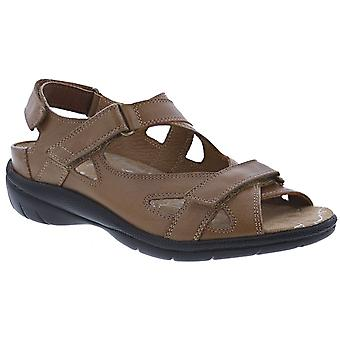Drew Shoe Womens Drew Lagoon Leather Open Toe Casual Ankle Strap Sandals