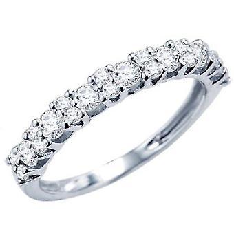 Dazzlingrock Collection 1.00 Carat (ctw) 14k Round Diamond Ladies Anniversary Wedding Ring Band Stackable 1 CT, White Gold