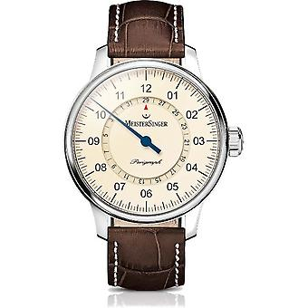 MeisterSinger watches men's watch single-hand watch with additional function Perigraph AM1003_SG02W
