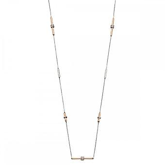 Fiorelli Silver Tubular Staion Necklace N4269C