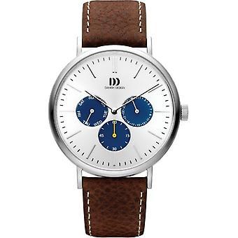 Dansk design IQ12Q1233 menn ' s Hong Kong sølv/Blue armbåndsur