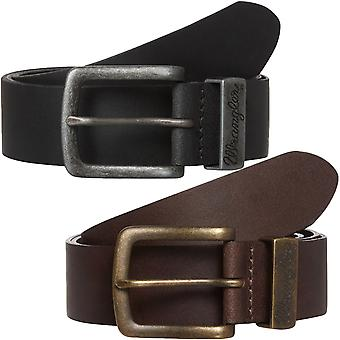 Wrangler Mens Basic Metal Loop Adjustable Leather Belt