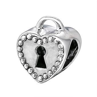 Wichtige Herz - 925 Sterling Silber Plain Beads - W6090X