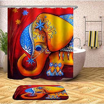 Süße kleine Elefant Dusche Vorhang