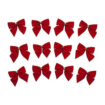 12x Bows for Christmas - Red