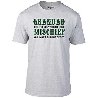 Men's grandad mischief t-shirt.