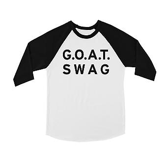 365 Printing GOAT Swag Youth Baseball Shirt Inspirational Motivational Quote Tee
