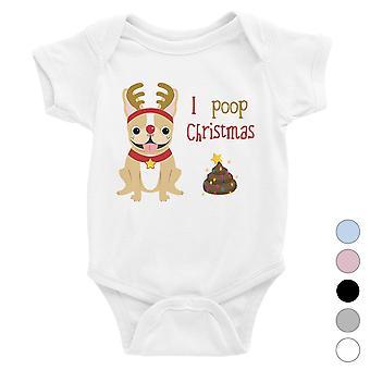 Frenchie Christmas Poop Funny Baby Bodysuit X-mas Gift