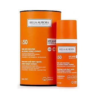 Anti ruskea Spot aurinko voide Protect-ADAPT-järjestelmä Bella Aurora SPF 50 + (50 ml)