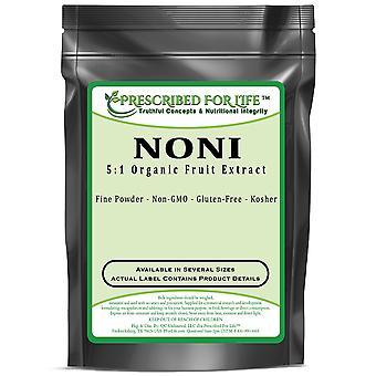 Noni-5:1 extract de pulbere de fructe naturale organice