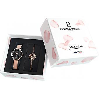 Kabinet Pierre Lannier 364:938 - boks steel + Dor Rose kvinde armbånd Watch