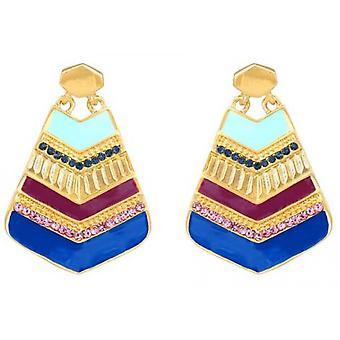 Christian Lacroix XFJ3005 earrings - M tal dor Patchwork