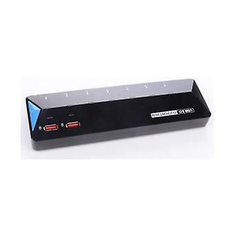 USB 3.0 7 منافذ Hub بالإضافة إلى منفذين إضافيين 2.4A للشحن السريع