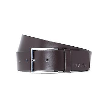 HUGO Giaspo Dark Brown Leather Belt