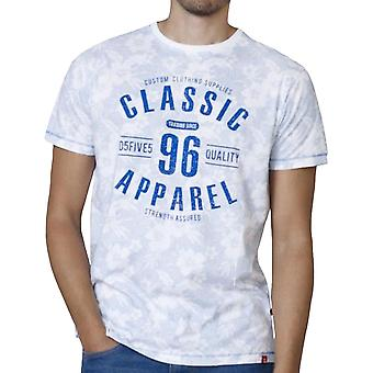 Duke D555 Mens Dodge Big Tall King Size Floral Short Sleeve T-Shirt Top Sky Blue