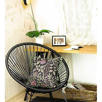 "17""x 17"" Jacquard Artistic Leaf Decorative Throw Pillow Cover"