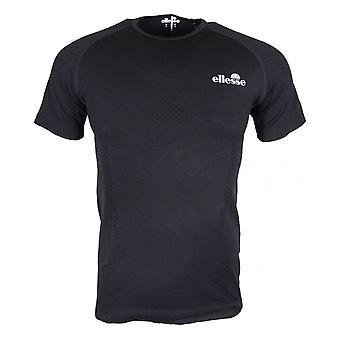 Ellesse Ster saumaton Logo musta t-paita