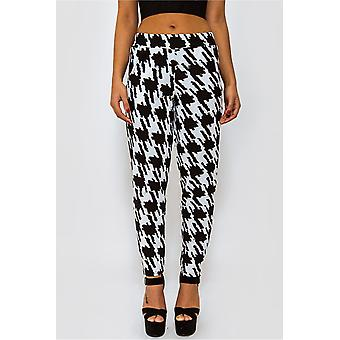Maise Black Check Monochrome Trousers