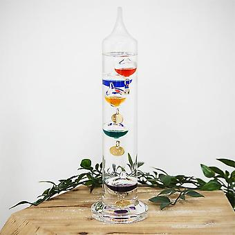 Widdop Bingham Galileo Thermometer 28cm Multi Coloured 5 Bulb