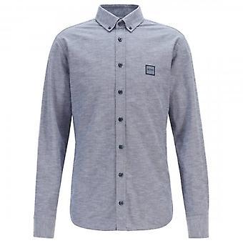 Boss Orange Hugo Boss Mabsoot Long Sleeve Oxford Shirt Navy 405 50409549