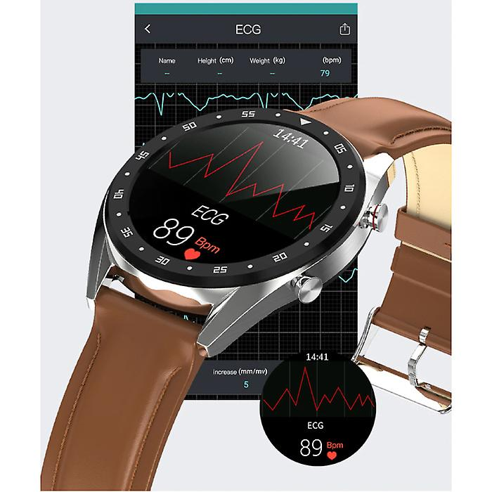 Lemfo Sports Smartwatch Fitness Sport Activity Tracker Smartphone Watch iOS Android iPhone Samsung Huawei Brown Leather