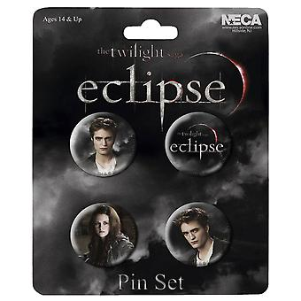 The Twilight Saga Eclipse Pin Set di 4 Edward & Bella