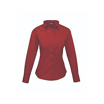 Premier long sleeve poplin blouse pr300 darker colours