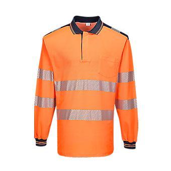 Portwest pw3 hi-vis polo shirt long sleeve t184