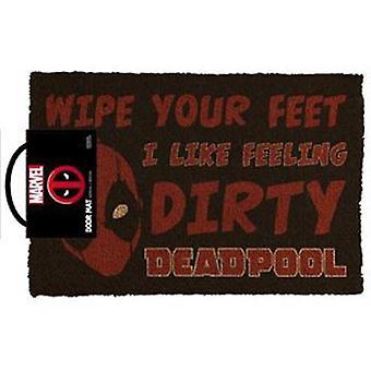 Marvel-Deadpool pidän tunne likainen ovimatto