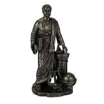 Greek Mathematician Pythagoras of Samos Bronze Finish Statue
