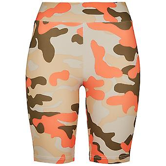 Urban Classics Damen Shorts High Waist Camo Tech Cycle Doppelpack