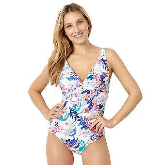 Miss Sans Complex 28LAF04 Women's Bora Bora White Multi Floral Print Kostuum uit één stuk Zwempak