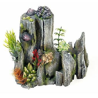 Classic For Pets Wood with Plants 210mm (Fish , Decoration , Ornaments)