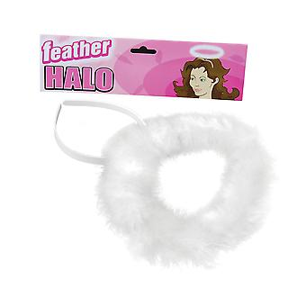 Bristol Novelty Unisex Adults Feather Halo
