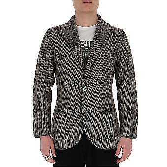 Lardini Eiljm59ei54008850be Men's Beige/black Cotton Blazer