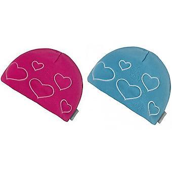 Trespass Childrens Girls Luma Heart Beanie Hat