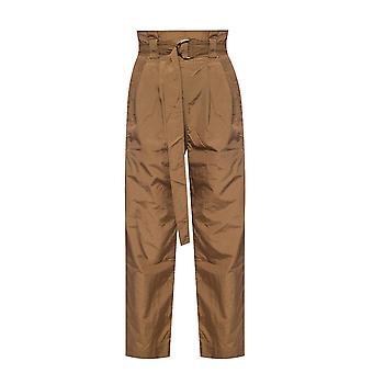 Ganni F4349840 Women's Brown Nylon Pants