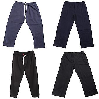 Redtag Sportswear Mens Elasticated Open Cuff Plus Size Jogging Bottoms