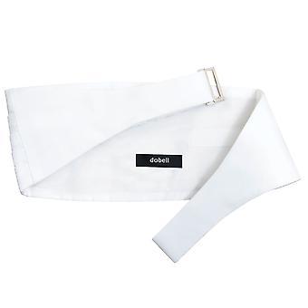 ・ ドベル男の子ホワイト カマーバンド 100% シルクの調節可能なウエスト タキシード結婚式アクセサリー