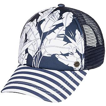 Roxy Beautiful Morning Cap in Mood Indigo Flying Flowers
