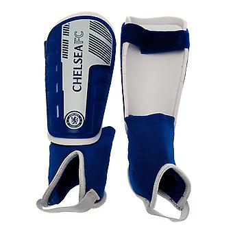 Chelsea FC Childrens/Kids Youths Shin and Ankle Pads