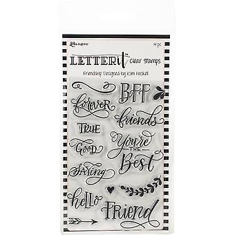 Lettre de Ranger It Clear Stamp Set 4-quot;X6-quot; - Amitié