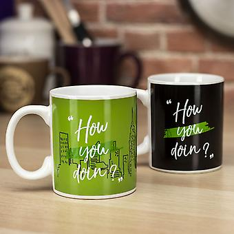 Friends - How You Doin? - Heat Sensitive Colour Change Mug - Ideal Coffee & Tea