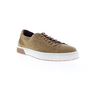 Zanzara SOL  Mens Brown Suede Lace Up Low Top Sneakers Shoes