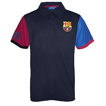 FC Barcelona Mens Polo Shirt OFFICIAL Football Gift Blue