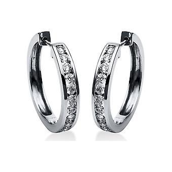 Diamond Earrings Earrings - 18K 750/- White Gold - 1.0 ct. - 2H568W8-1