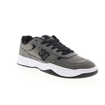 DC Penza TX SE  Mens Gray Canvas Lace Up Athletic Skate Shoes