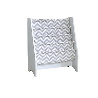 KidKraft Wooden magazine rack and White and Grey fabric